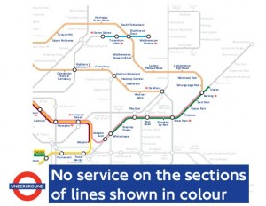 E London underground - no service